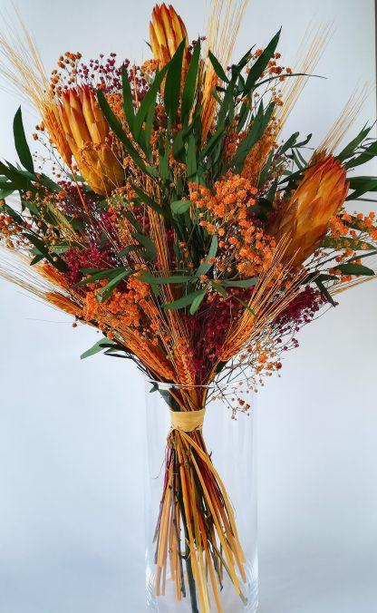 ramo flores preservadas protea