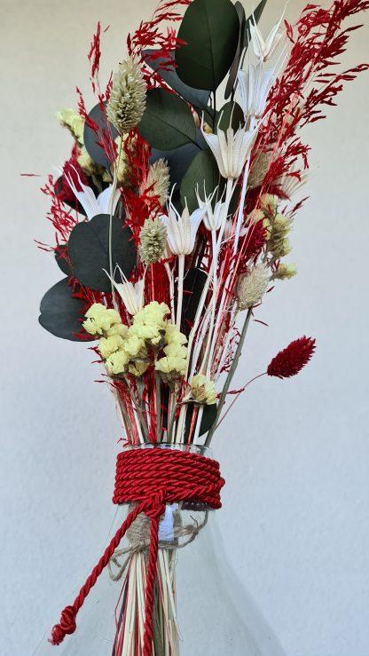 florero flores preservadas