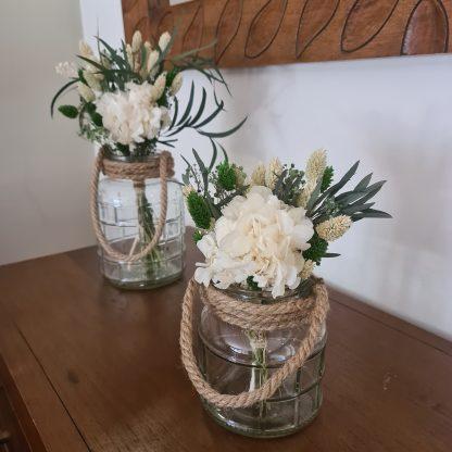 jarrones hortensia preservada
