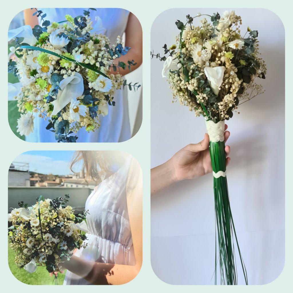 ramo novia con calas preservadas