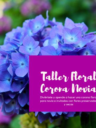 Taller Floral Corona novia