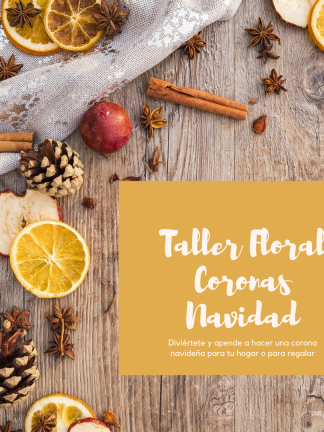 Taller Floral Coronas Navidad