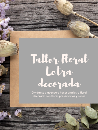 Taller floral letra decorada