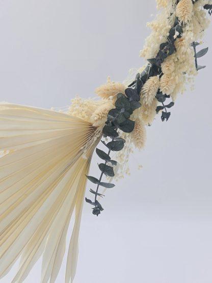 corona floral flores preservadas