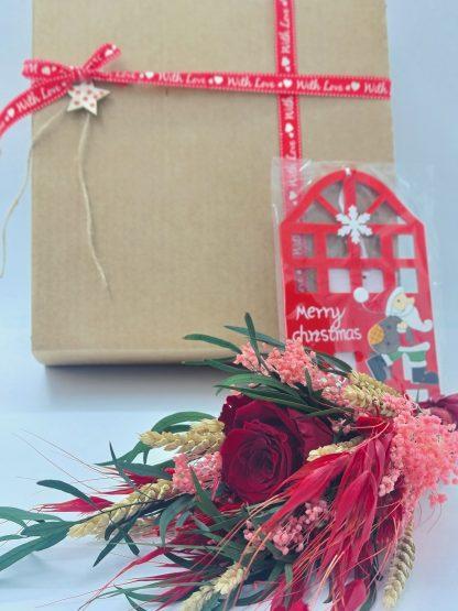regalo navidad ramo flores preservadas